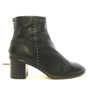Rag & Bone Willow Black Leather Studded Booties